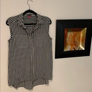 Super cute stripped sleeveless work colored shirt